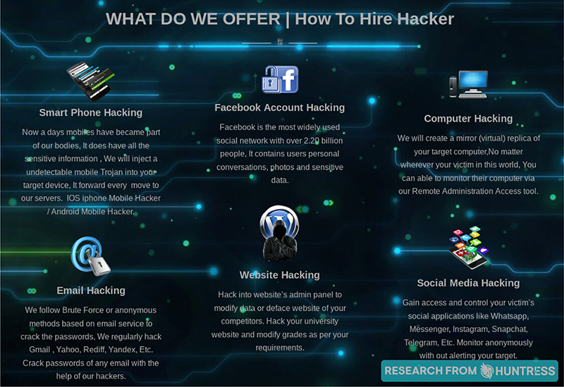 Hacking Services on the Dark Web 5