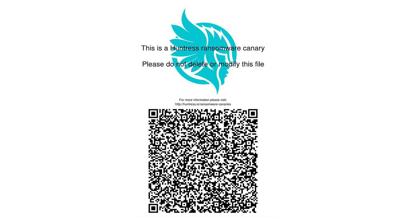 Huntress Ransomware Canary File